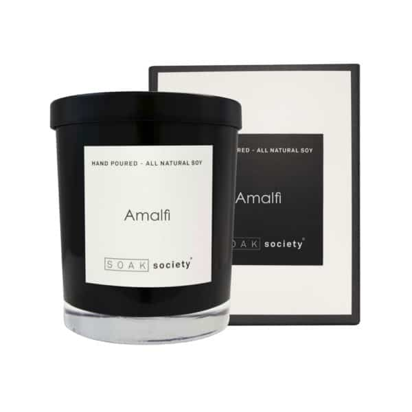 Amalfi Candle Black Stacked